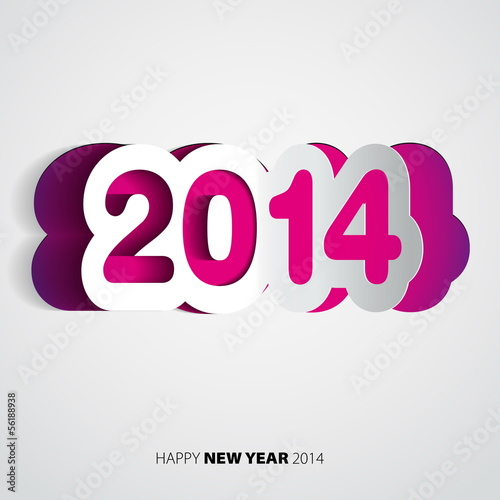 Happy New Year 2014 velvet vector card Canvas Print