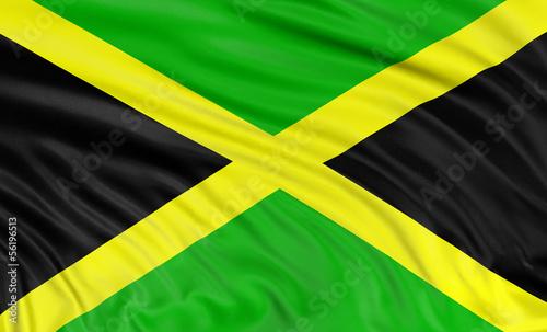 Photo 3D Jamaican flag