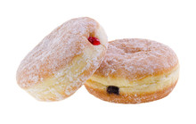 Donut. Jelly Filled Doughnuts On Background