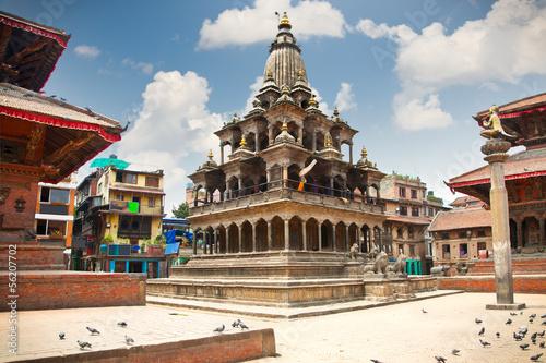 Wall Murals Nepal Krishna Mandir Temple, Durbar Square, Patan city. Nepal.