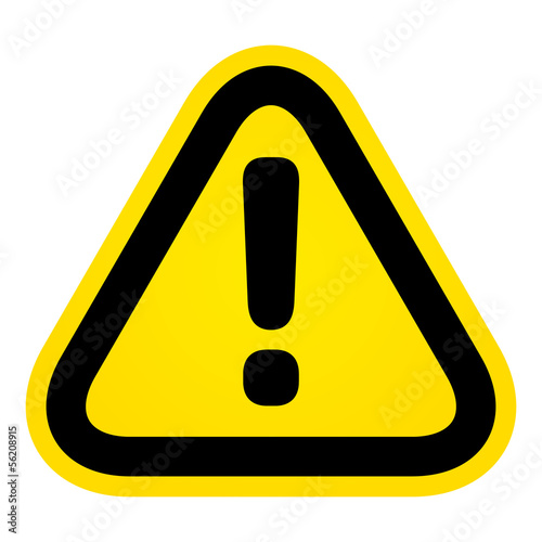 Fotografia Hazard warning attention sign