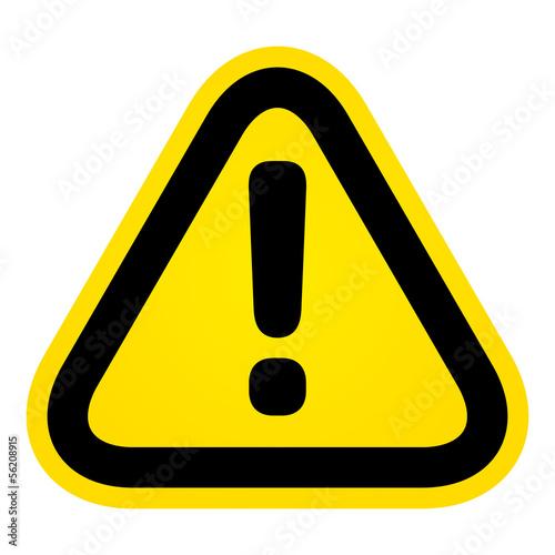 Fotografia  Hazard warning attention sign