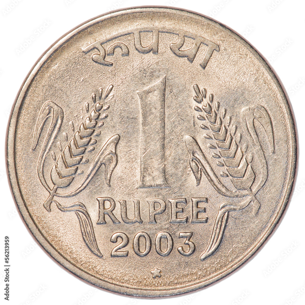 Photo & Art Print one Indian Rupee coin | Abposters com