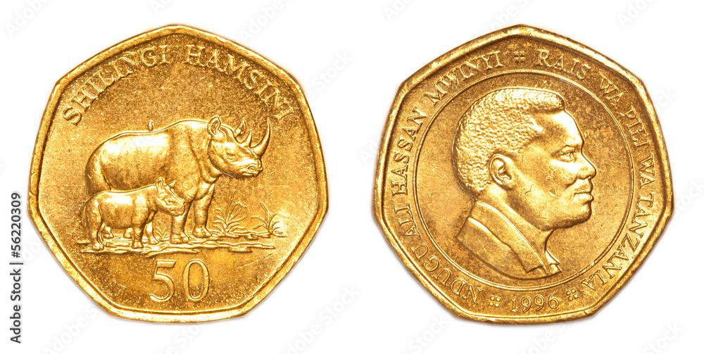 Photo Art Print 50 Tanzanian Shilling Coin Abposters