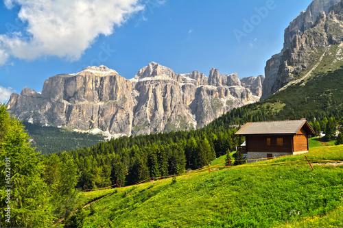 Dolomiti - high Fassa Valley Canvas Print
