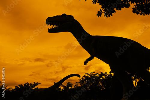 Naklejki dinozaury  the-silhouettes-of-dinosaurs