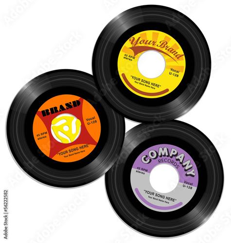 Fotografía  vintage 45 record label designs 2