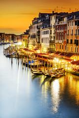 Fototapeta Romantyczny Grand Canal at night, Venice