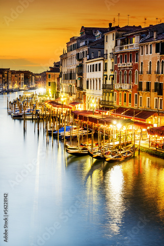 Fototapeta Grand Canal at night, Venice obraz