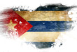 canvas print picture - Cuban flag