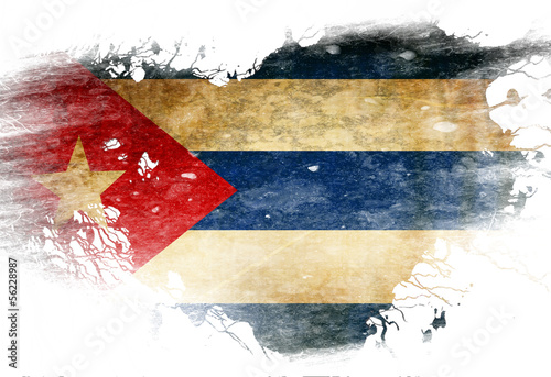 Photo  Cuban flag