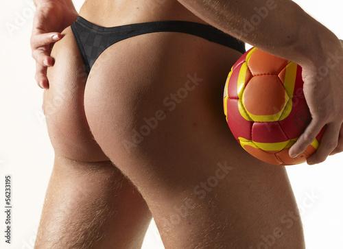 Foto-Schmutzfangmatte - Durchtrainierter,sportlicher Männerpo (von Bernhard Schmerl)