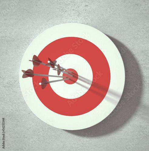 Fotografía  darts target