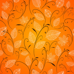 Obraz na PlexiVintage autumn leaves seamless pattern background. EPS10 file.