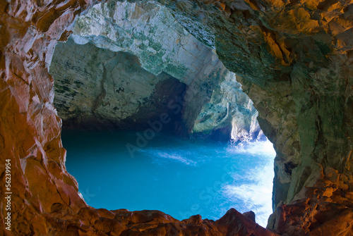 sea cave Canvas Print