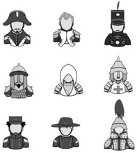 Silhouette Ancient Warrior Icon Collection Set 1