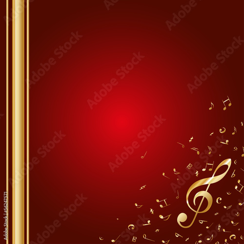 Autocollant - Hintergrund Musik Noten Notenschlüssel Weihnachten