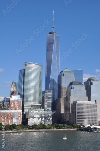 Lower Manhattan Skyline with One World Trade Center Poster