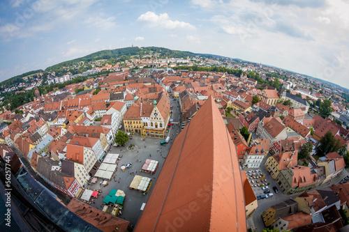 Photo Aussicht von der Basilika St. Martin in Amberg, i.d. Oberpfalz