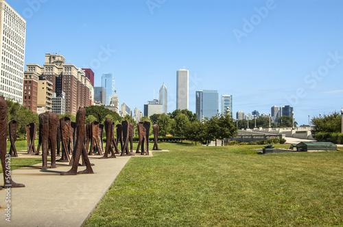 Photo Agora sculpture in Chicago