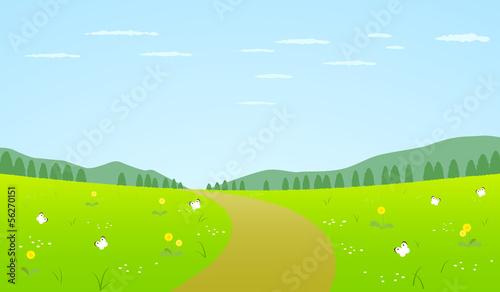 Poster Lime groen 春 風景 景色