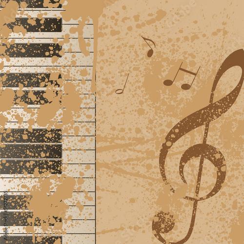 Autocollant - Hintergrund Musik Noten Notenschlüssel Vektor