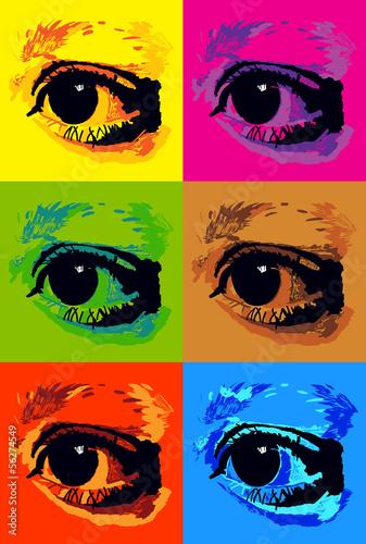 plakat-pop-art-z-oczami