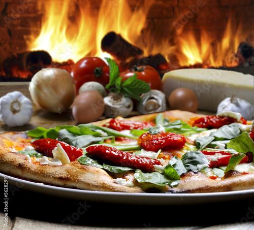 Tuinposter Pizzeria pizza