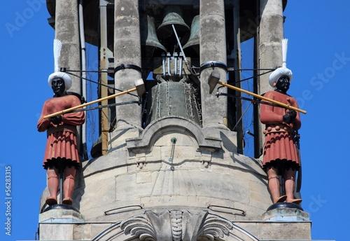 Photo  Carillonneurs automates à l'hôtel de ville de Cambrai
