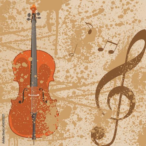 Sticker - Hintergrund Musik Noten Notenschlüssel Vektor