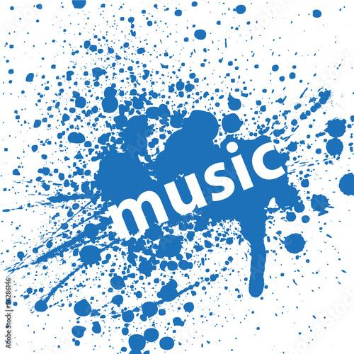 Sticker - Hintergrund Musik Noten Abstrakt Vektor