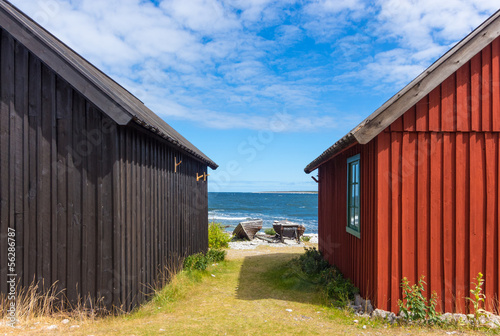 Photo  Fishing village on Fårö island, Sweden