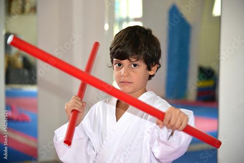 Martial arts boy