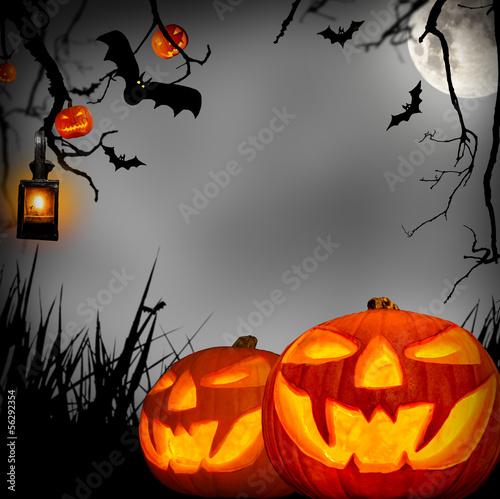 Fotobehang Volle maan halloween concept