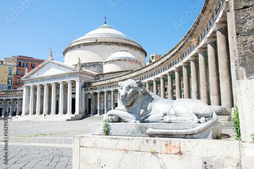 Spoed Foto op Canvas Napels Piazza del Plebiscito, Naples, Italy