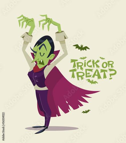 Fotografie, Obraz  Halloween Vampire