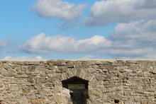 Fortification Wall With Cloud Sky