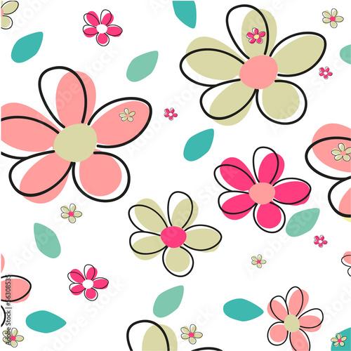 bezszwowy-lato-kwiatu-wektoru-tlo