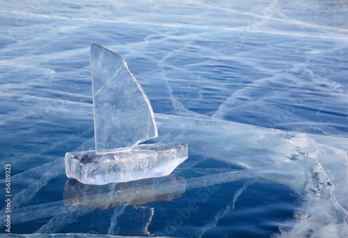 In de dag Poolcirkel Ice yacht on winter Baical