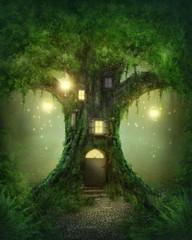 FototapetaFantasy tree house