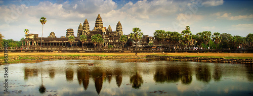Angkor panoramic Canvas Print