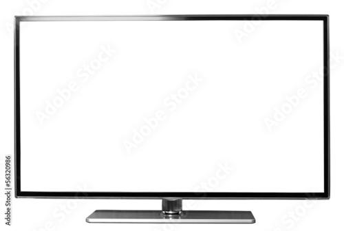 Fotografie, Obraz  modern flat screen led tv isoalted on white