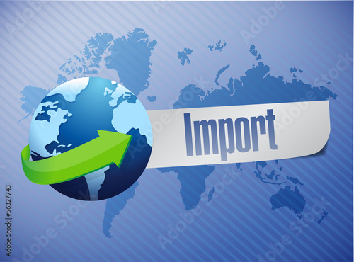 Fotografia, Obraz  import world map illustration design