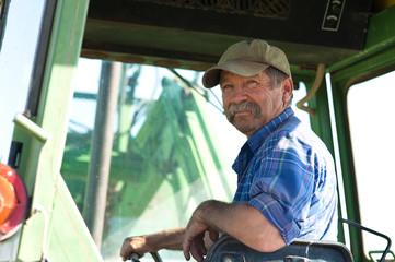 Farmer in his Tractor