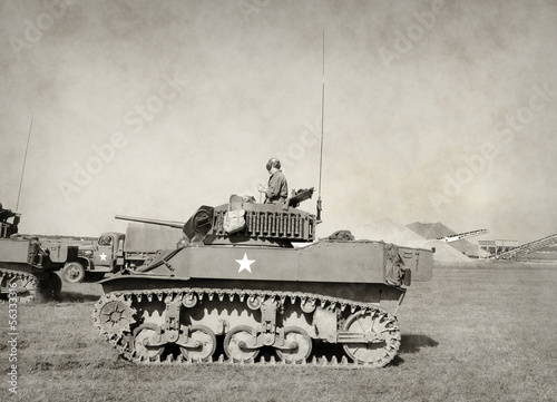 Old American tank Poster Mural XXL