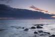 Twilight ocean scene