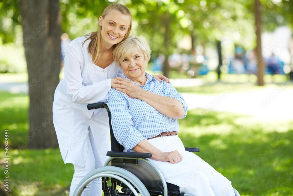 Fototapeta Taking care of patient