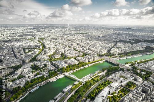 Poster Paris Panorama di Parigi dal 3 piano della Tour Eiffel