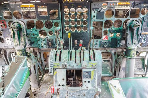 Fototapeta abandon electronic cockpit obraz na płótnie