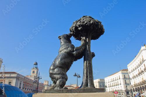 Poster de jardin Madrid bear with strawberry tree, Madrid, Spain